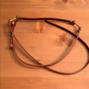 Mm LaFleur belt bridle belt. Natural color. Xl/xxl